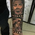 Horror Movie Sleeve Tattoo Design Thumbnail