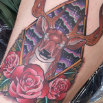 Deer with Antlers Tattoo Design Thumbnail
