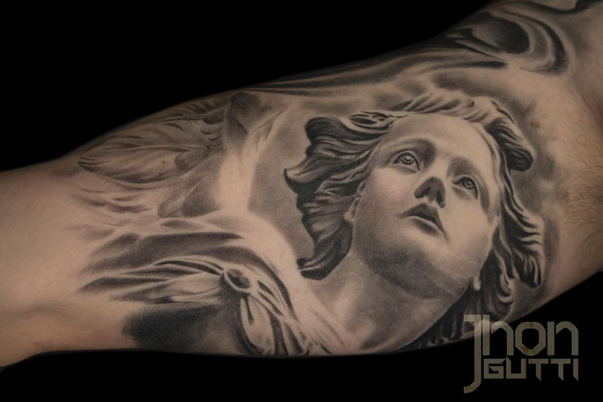 ANGEL STATUE by Jhon Gutti: TattooNOW