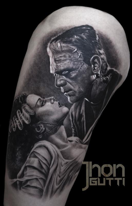 FRANKENSTEIN AND BRIDE by Jhon Gutti: TattooNOW