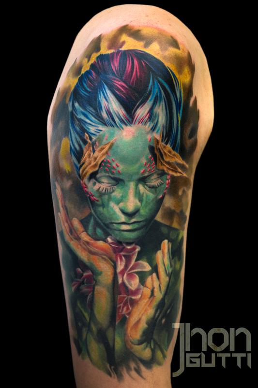 Mother Nature Tattoos: MOTHER NATURE By Jhon Gutti : Tattoos