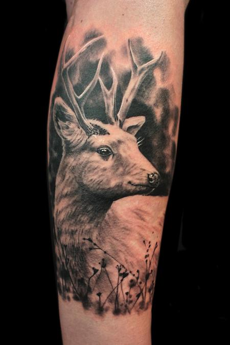 WHITE STAG Tattoo Design Thumbnail