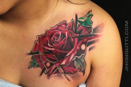 Tattoos - ROSE COVER-UP - 101989