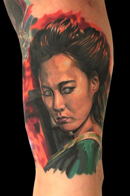 Color portrait from 47 Ronin Tattoo Design Thumbnail