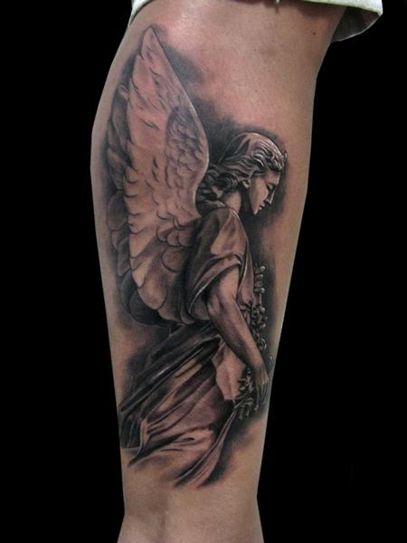 Tattoos - ANGEL STATUE - 101183