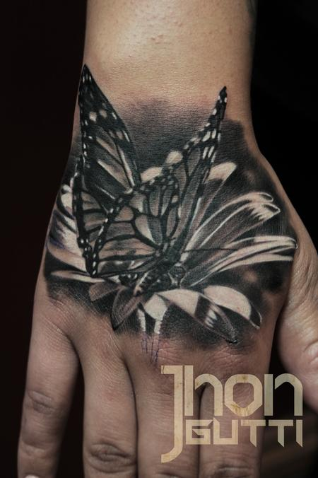 BUTTERFLY ON FLOWER Design Thumbnail