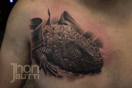 Tattoos - CAIMAN LIZARD - 125575