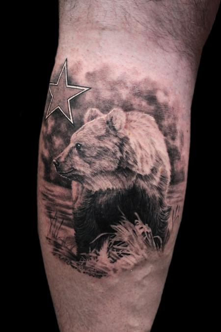 Tattoos - CALIFORNIA BEAR - 100607