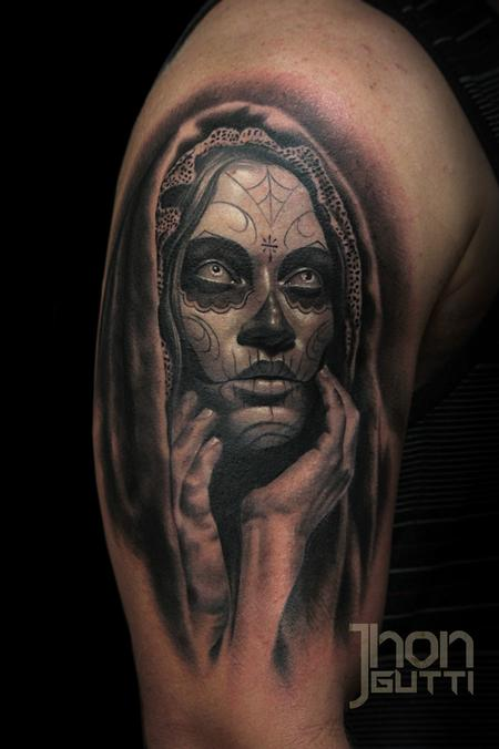 Tattoos - DAY OF THE DEAD GIRL - 106621