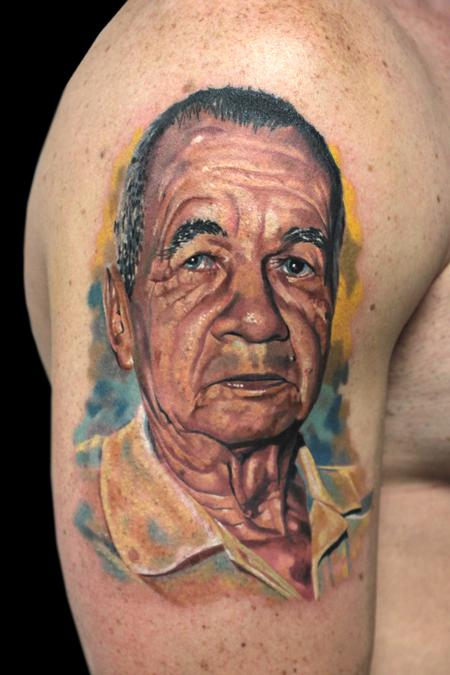 Tattoos - GRANDPA PORTRAIT - 100669