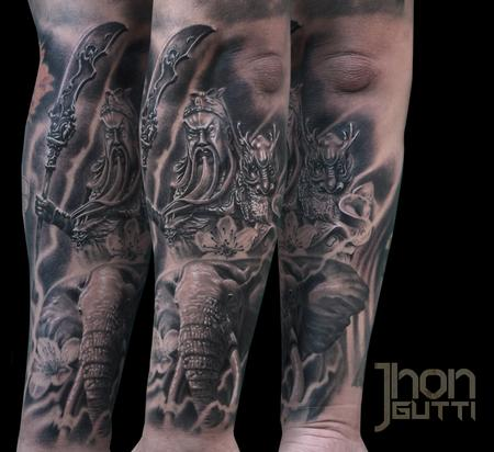 Tattoos - GUAN-YU WITH ELEPHANT - 107954