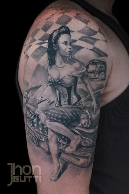 Tattoos - PIN UP GIRL - 104698