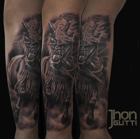 Tattoos - SAMURAI HORSE - 107955