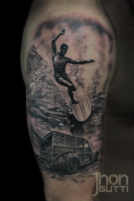 Tattoos - VINTAGE SURFING - 104337