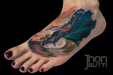 Tattoos - COLOR WAVE TATTOO - 107957