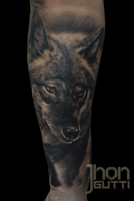 Tattoos - WOLF PORTRAIT - 115479