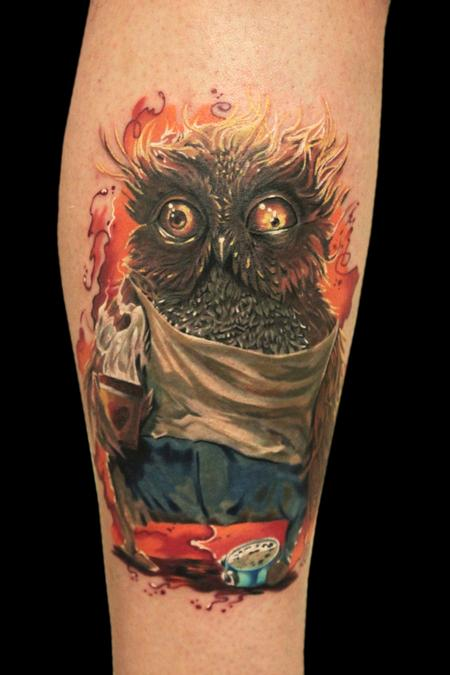 Tattoos - Owl with insomnia - 100492