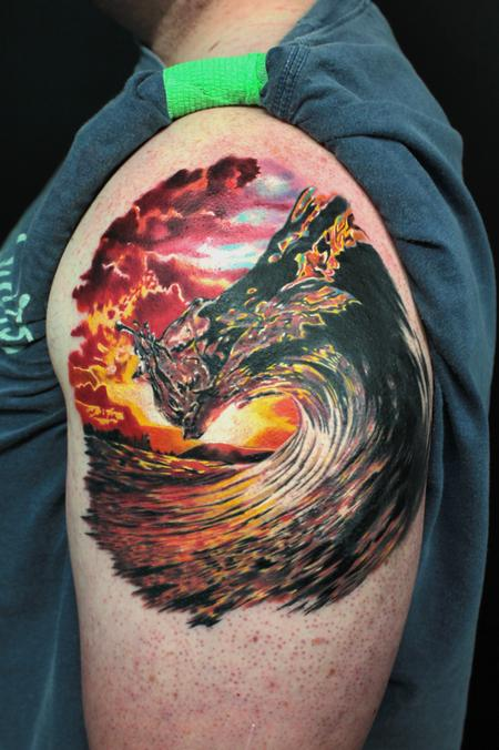 Tattoos - Sunset Wave - 100423