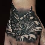 BUTTERFLY ON FLOWER Tattoo Design Thumbnail