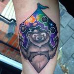 Juggling Bear Tattoo Design Thumbnail