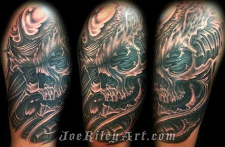 Tattoos - Biomech skull tattoo - 68825