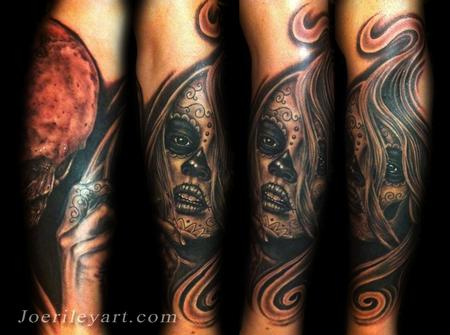 Joe Riley - day of the dead tattoos