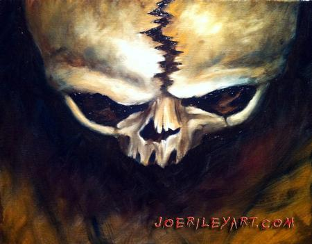 Joe Riley - Skull painting