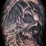 Tattoos - Grim Reaper Tattoo - 123002