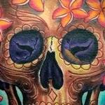 Tattoos - Skull and Flowers Tattoo - 119113