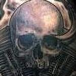 Tattoos - Biomech Skull Harley Tattoo - 108713