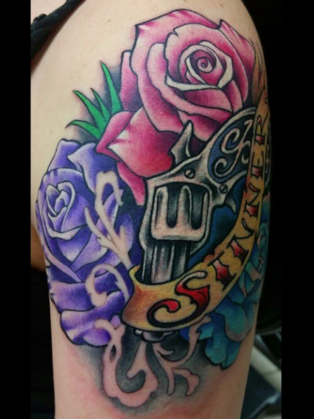 Tattoos - Roses and Gun - 100714