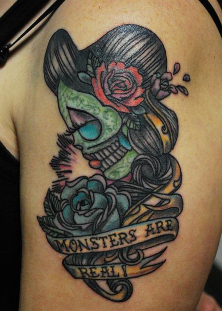 Tattoos - Day of the dead small piece - 98729