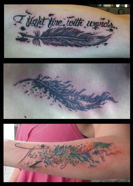 Tattoos - Three feathers - 98731