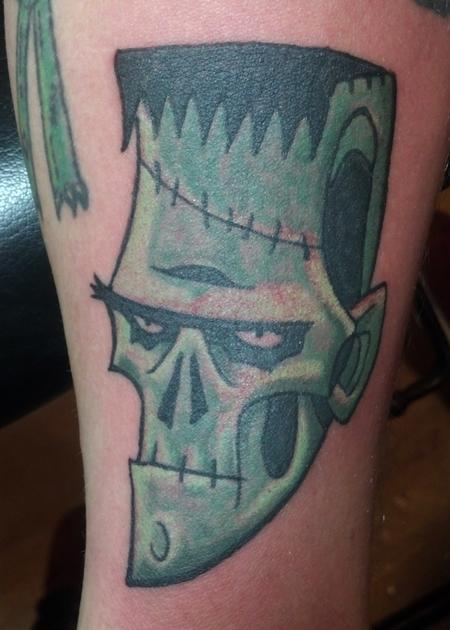 Tattoos - Cartoon Frankenstein's monster - 98734