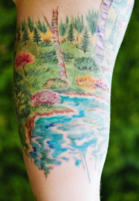 Tattoos - Colorado landscape bicep - 98758