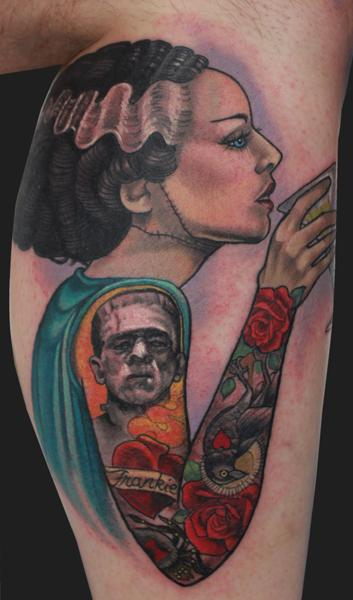 Bride of Frankenstein tattoo Design Thumbnail