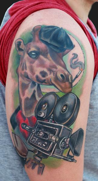 The Directing Giraffe tattoo Design Thumbnail