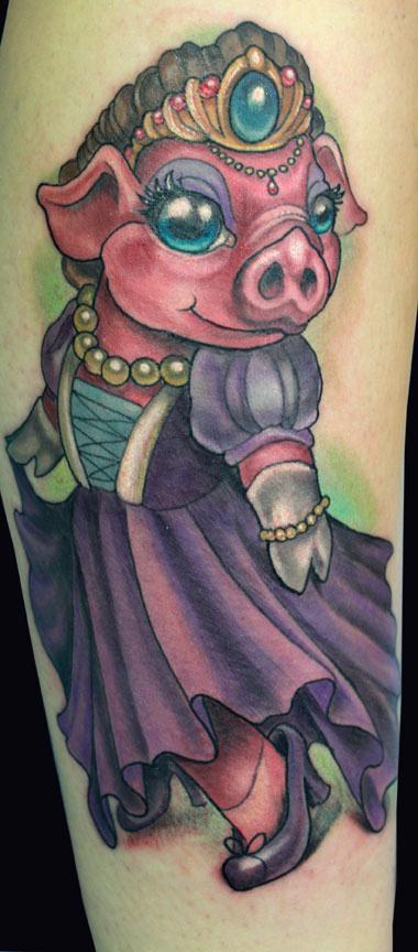 Tattoos - Pig Princess tattoo - 89385