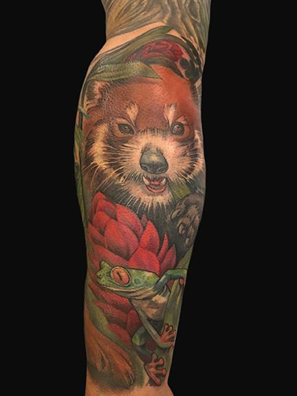 Tattoos - Red Panda and Tree Frog - 132584