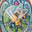 Tattoos - Bee in a frame tattoo - 92154
