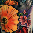 Handbell and Flower tattoo Tattoo Design Thumbnail