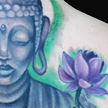 Buddha and Lotus tattoo Tattoo Design Thumbnail