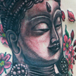 Tattoos - Buddha and cherry blossom tattoo - 99043