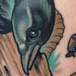 tattoos/ - Crow and Ram's skull Tattoo - 94402