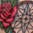 Tattoos - Dreamcatcher and rose tattoo - 92148