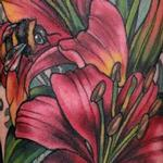 Lillies and bees tattoo Tattoo Design Thumbnail