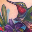 Tattoos - Hummingbird and Lily tattoo - 69069