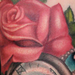 Tattoos - Pocket Watch and Rose Tattoo - 74003