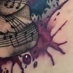 tattoos/ - Watercolor Rose with Music Notes