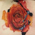 Rose watercolour Tattoo Design Thumbnail
